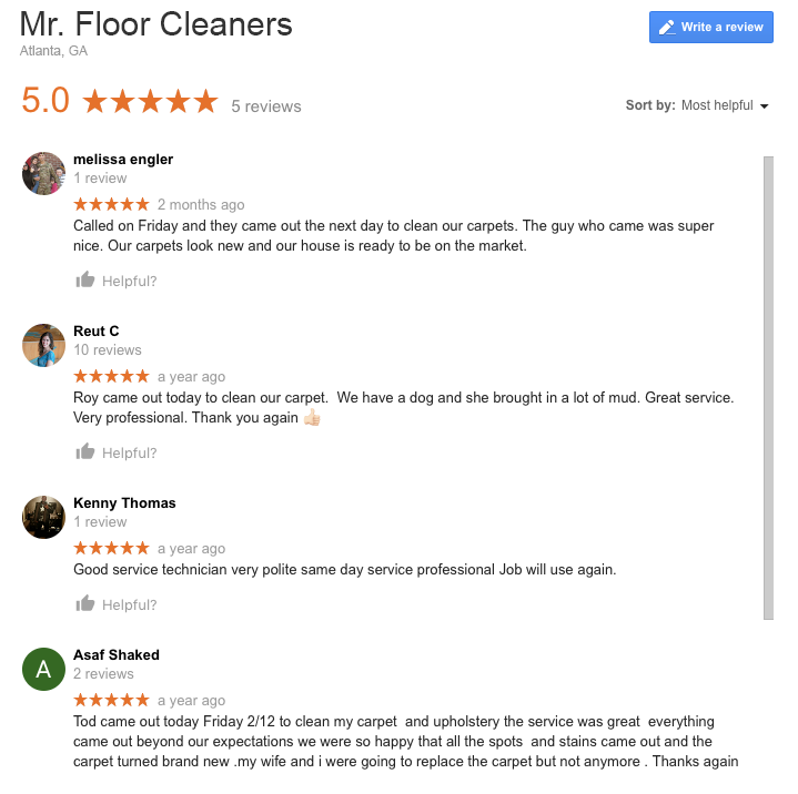 Mr. Floor Cleaners Reviews